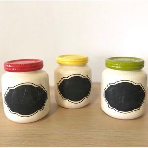 Anthropologie Chalkboard Spice Jars - Set Of 3